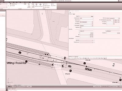 AutoCAD Map-Ansicht inkl. Attribut-Formular